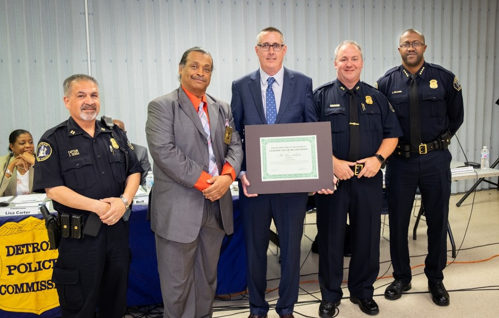 Ken honored by Detroit Police Dept.